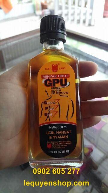 Ở đâu bán Dầu Nóng Minyak Urut GPU 60ml hàng Sách tay từ THÁI LAN