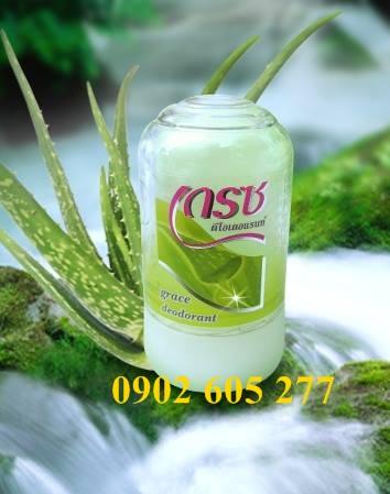Lăn khử mùi đá khoáng Green Herb 70g mùi nha đam