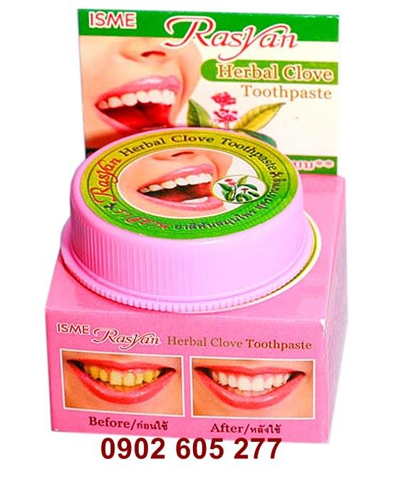 Kem tẩy trắng răng Rasyan – Green Herb thái lan chất lượng