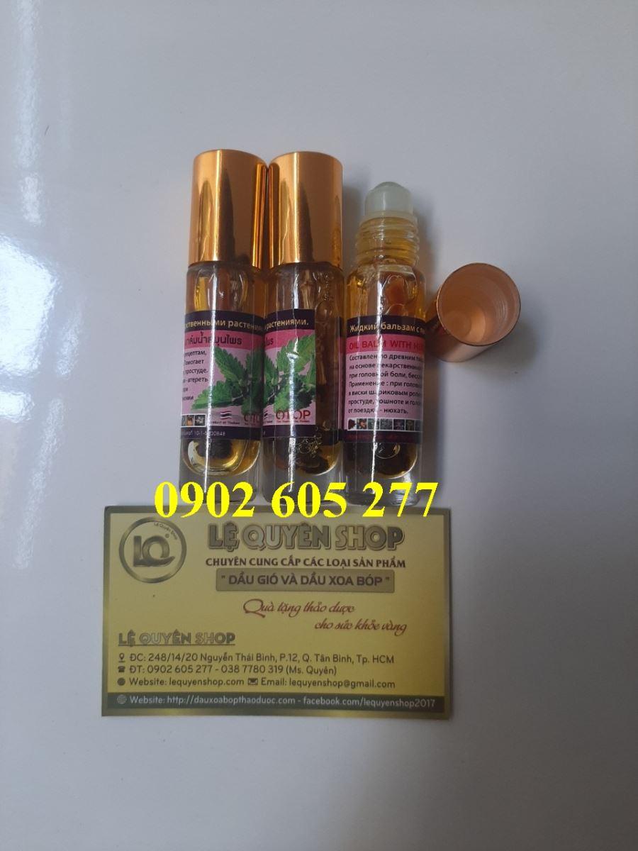 Địa chỉ bán Dầu lăn hương bạc hà Thái Lan tại HCM