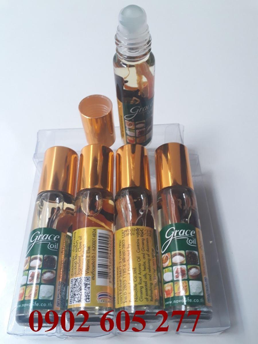 Dầu lăn grace oil 8cc Thái Lan nắp vàng